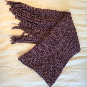 Urban Outfitters Lavender Chunky Knit Scarf